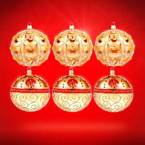 Kolekce vánočních baněk