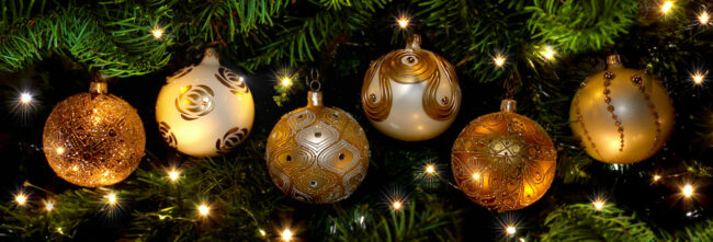 Skleněné vánoční baňky Lyra