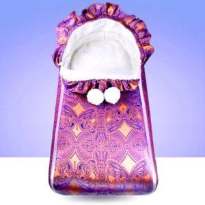 Fusak pro děti do kočárku i na doma. Kolekce Kolorita Nuvo, je český výrobce dětského textilu. Používáme krásný damašek na s efektem růžového zlata do ametystu.